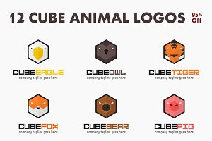 12 Cube Animal Logos - 95% Off