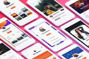 Profile Mobile App UI Kit