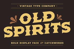Old Spirits Display Font