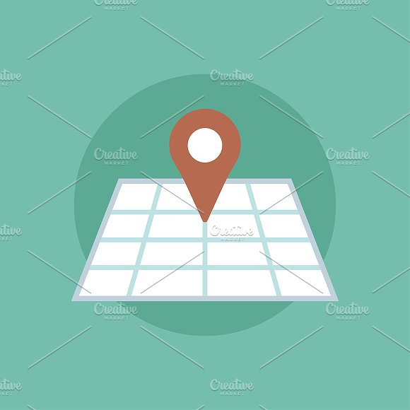 Pinned Map Icon Vector