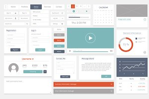 Website template layout illustration