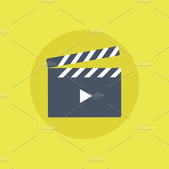Movie Player Icon Vector