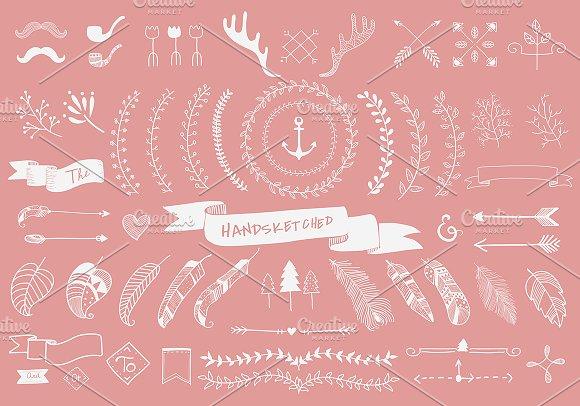 Website Hand Sketched Label Ornament