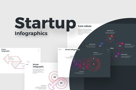 STARTUP Powerpoint Infographics