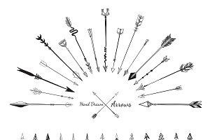 arrows icons vector illustration