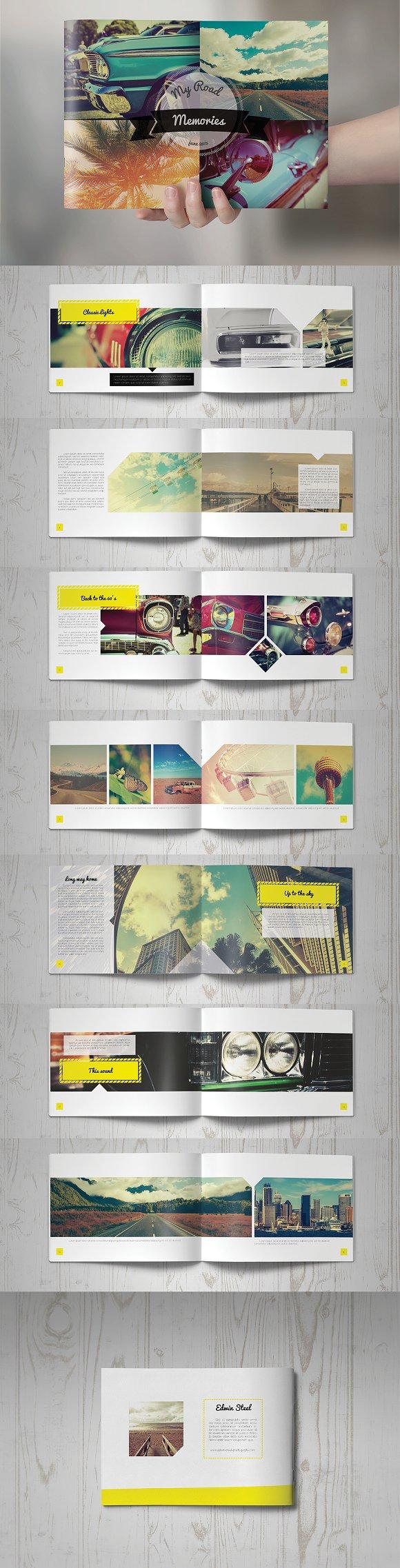 retro brochure design brochure templates creative market