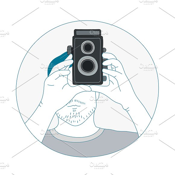 Analog film camera vector in Illustrations