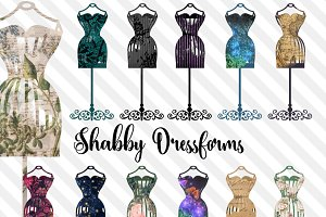 Shabby Dressforms Clipart