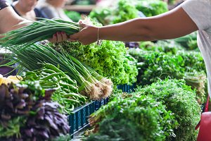 Green Onions on the market