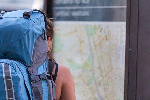 Girl traveler alone