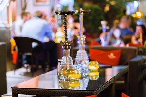 bar for smoking a hookah