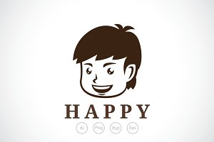 Happy Boy Logo Template