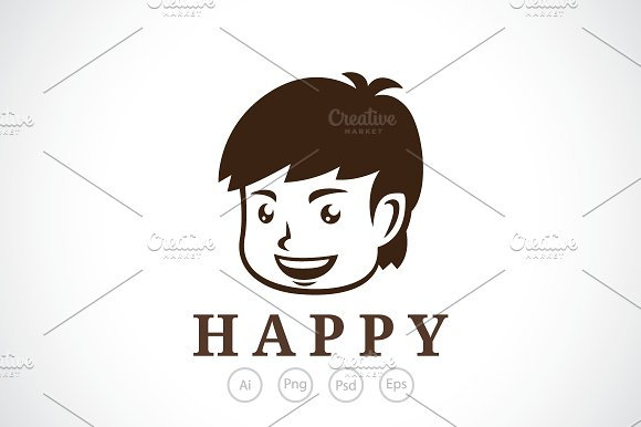 Happy Boy Logo Template
