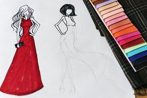 Designer drawing sketching