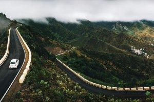 Winding road in Tenerife