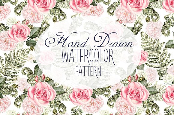 13 Hand Drawn Watercolor Pattern