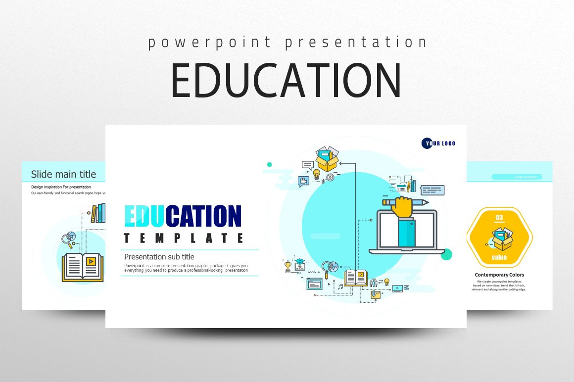 Education icon ppt template presentation templates for Free flash powerpoint presentation templates