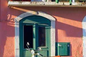 Old Town street scene of Lisbon