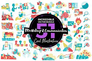 51 x Mktng & Communication Vectors