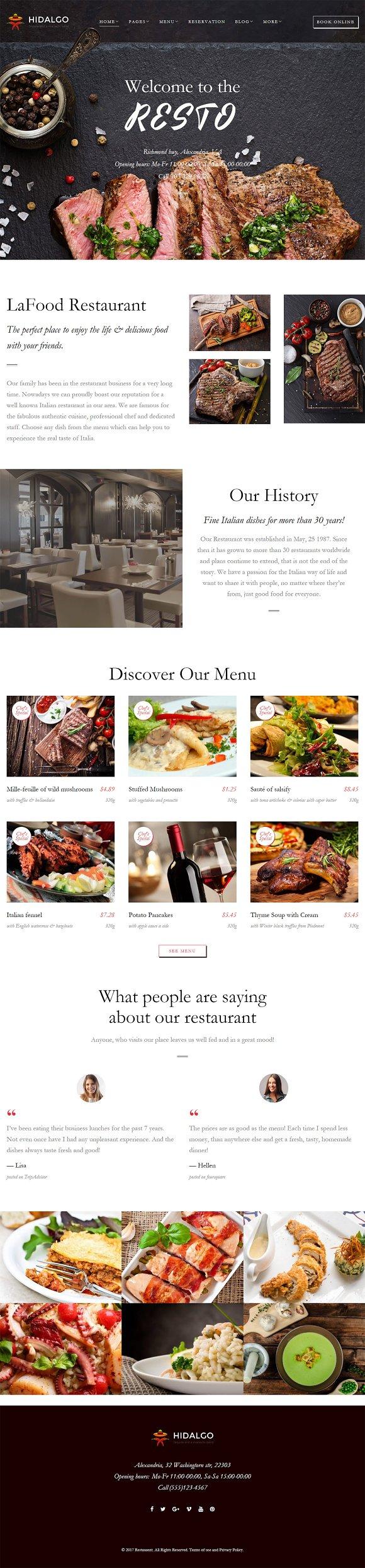 Resto Restaurant WordPress Theme