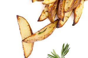 Baked potatoes and rosemary