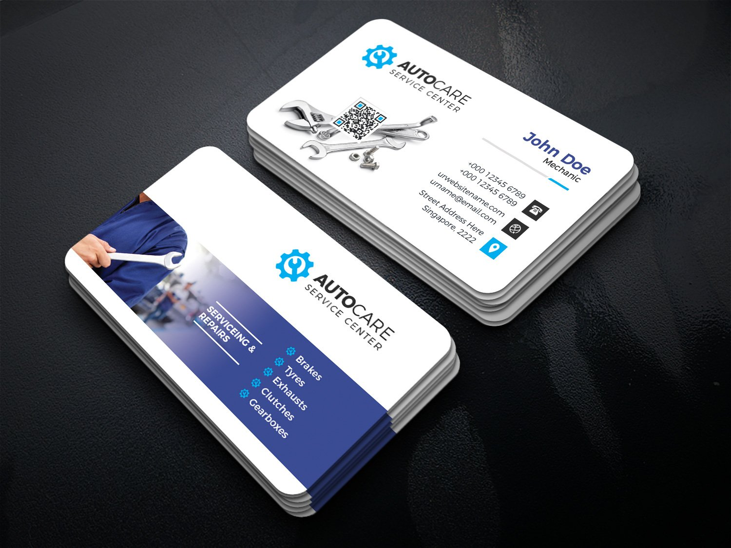 Car Service Business Card ~ Business Card Templates ~ Creative Market