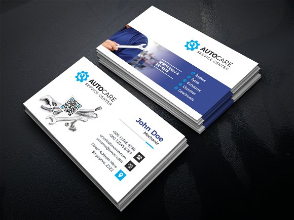 Car service business card business card templates creative market reheart Gallery