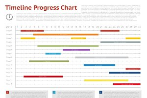Vector timeline progress graph