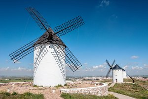 Typical spanish windmills