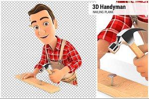 3D Handyman Nailing Plank