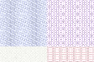 Guilloche patterns set