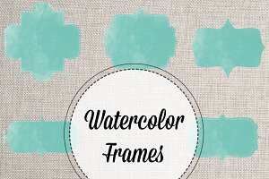 Watercolor PNG Stitched Frames