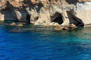 Sicily summer sea coast, Italy