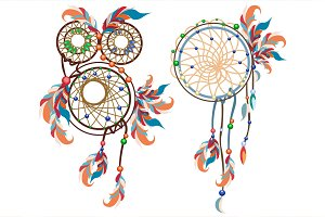 Dreamcatcher Vector objects