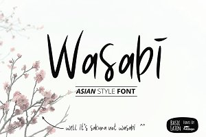 Wasabi Asian Style Font