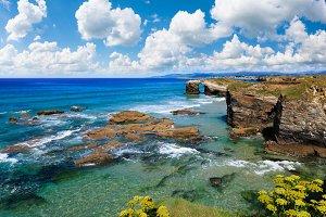 Atlantic summer coastline (Spain).