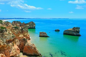Atlantic summer coastline (Spain).