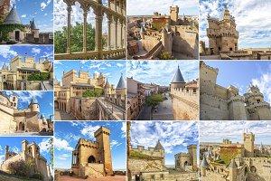 Collage Castle Olite, Spain