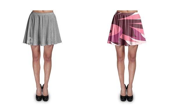 Free Mini Skirt Design Mockup