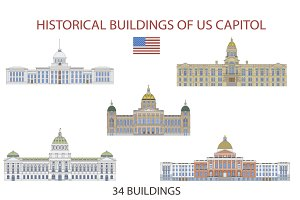 Historical buildings of US Capitol