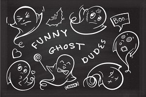 Funny ghost dudes set