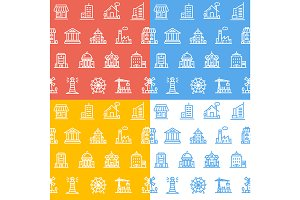 Building House Pattern Background