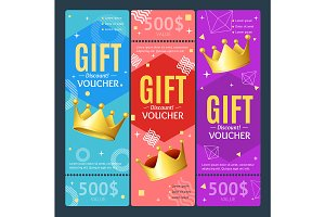Gift Voucher Card with Crown