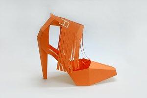 DIY Tassle High Heel - 3d papercraft