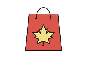 Autumn shopping color icon