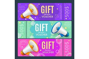 Gift Voucher Card with Megaphone