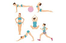 icons of people exercising