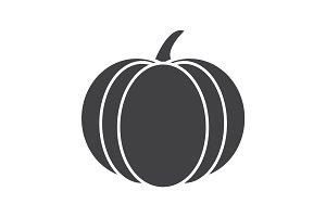 Pumpkin glyph icon