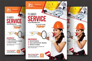Plumber Service Flyers Bundle