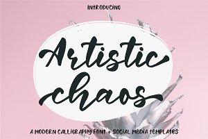 Artistic Chaos Font Duo + Bonus